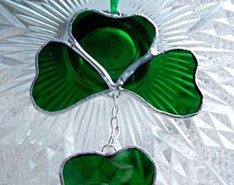 Shamrock Irish Stained Glass Suncatcher St. Patty's Day
