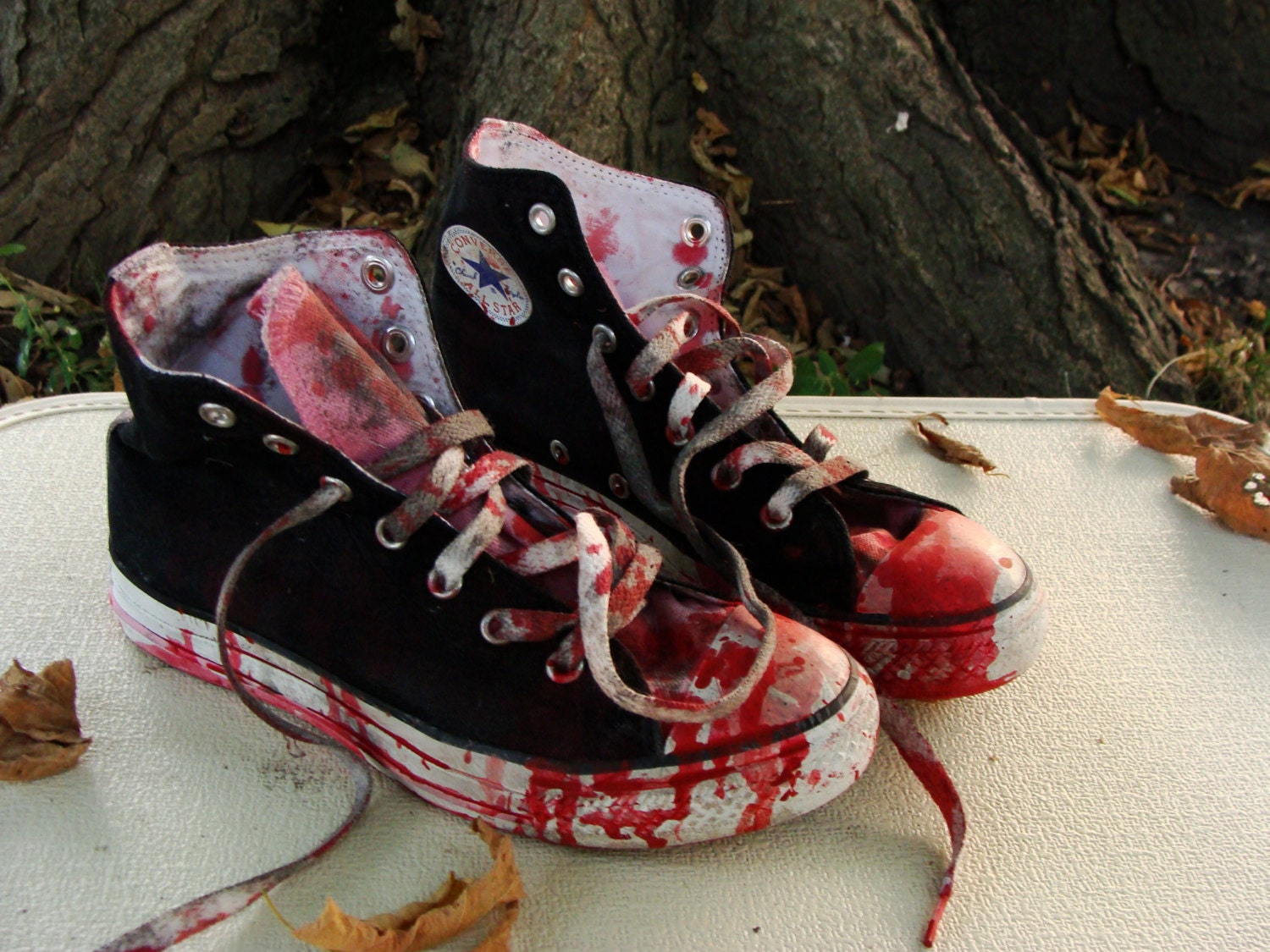 Custom Made Bloody Girls Zombie Shoes Chucks Converse All