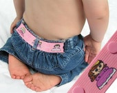 "Kids Belt - ""Princesses"" - Elastic Snap Belt - LittleTadpoleDesigns"