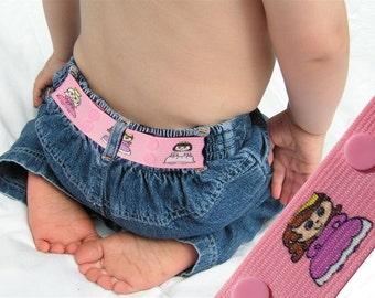 """Kids Belt - Elastic Snap Belt - """"Princesses"""""""