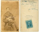 Original Civil War Photo | May 1864 Tax Stamp | CDV  Carte de Visite Photograph