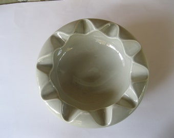 Arno Scheiding Pottery Round Gray Ashtray Modernist Decor