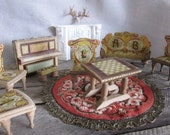 Antique Bliss Dollhouse Miniature Doll House Complete Set Victorian 1880