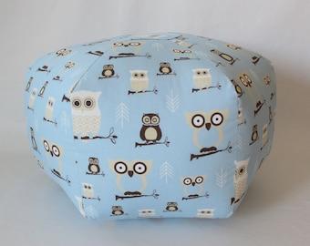 "24"" Ottoman Pouf Floor Pillow Hooty Owl"