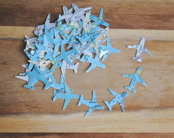 "Small Atlas Airplane Cutouts (1"") diecuts, punches, confetti, funfetti"