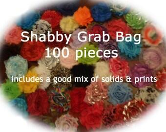 SALE**SALE** 100 piece Shabby Flower Grab Bag - WHOLESALE