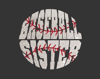 Women's Glitter Bling Baseball Sister shirt