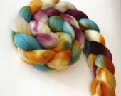 Ron & Hermione Forever - Hand Dyed Teal, Burgundy, Gold, Taupe, Merino Roving, 4 oz