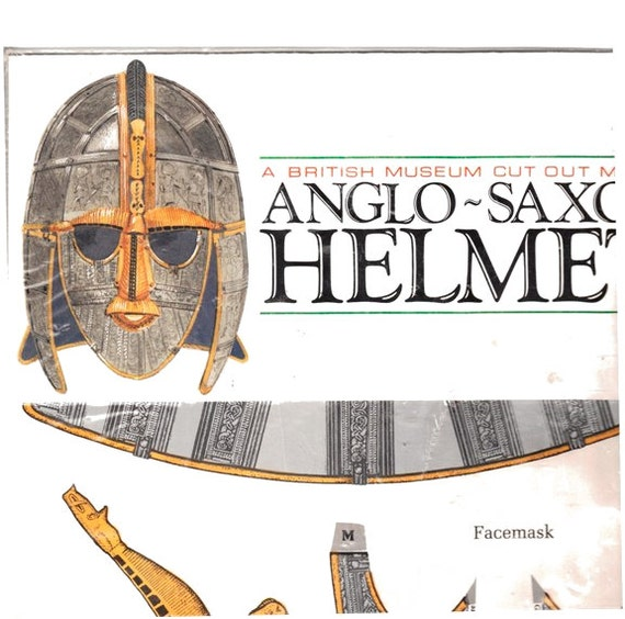 Vintage Anglo Saxon Helmet British Museum LOWERED PRICE Price Cut Out Model \1993 Unopened Still In Plastic- Best Offer & US Free Shipping