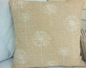 Tan Beige Throw Pillow COVERS ALL SIZES One or More  Burlap Accent Pillow Dandelion Linen Like Cushion Couch Pillow Sham Sofa Cushion Burlap