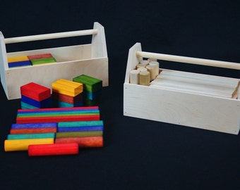 Wooden Rainbow Block Set