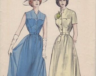 Bust 36-1950's Misses' Dress Butterick 5676 Size 18