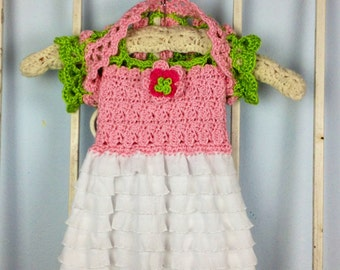 English Rose Baby Dress Girls Crochet Pattern PDF Instant Download Toddlers Sizes Newborn- 5T