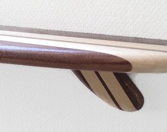 36 Inch Surfboard Shelf Classic Walnut Maple