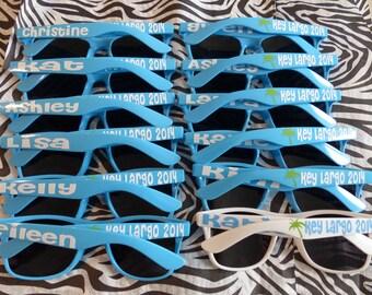 Personalized Sunglasses - Bride, Bridesmaid, Groom, Groomsmen, Vacations, Parties, favors