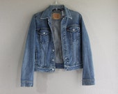 Vintage 1990's LEVI'S unisex blue DENIM JACKET