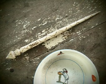 hand-turned supported spindle, magic poplar