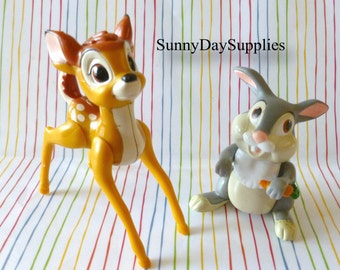 Vintage Mcdonalds Happy Meal Toys, Disney Characters,  Bambi Toys, Bambi and Thumper,   2 toy in Lot,  1988 toys, CLEAN,  Bambi toys