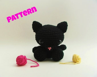 Crochet Cat Pattern / Halloween Cat / Halloween Pattern / Crochet Cat / Kids Patterns / Cat Pattern / Amigurumi Pattern / Animal Pattern