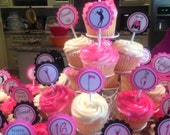 Golfing Girl Style Cupcake Toppers
