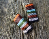 Handmade Micro Macrame Earrings in Variety of Colors with Sterling Silver Hooks