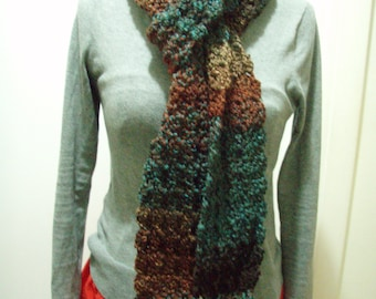 Multicolor Crochet Scarf