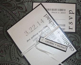 Simple Wedding Invitation - Modern Wedding Invitation