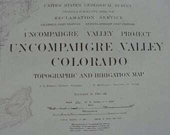 Map Uncompahgre valley Colorado -1911