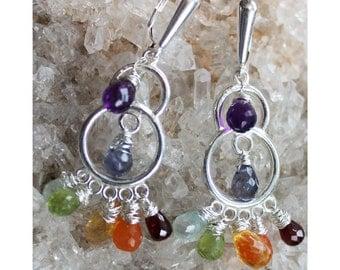 Chakra Chandalier Earrings