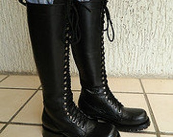 custom lace up boot 14 inches height full lined shaft and platform included