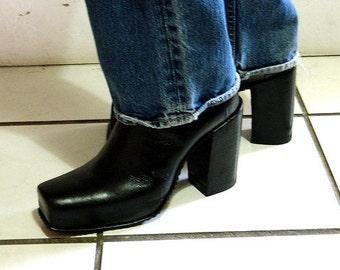 Hidden Platform squar toe ankle boot new any men size avilable made to order