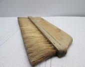 Vintage Brush Wall paper brush, wooden handle, black stripe