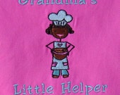 Girl's Apron Grandmas Little Helper Handmade Embroiderd and Lined Can Be Personalized with Child's Name