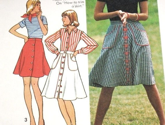 Simplicity 6778 How to Sew Button Front Skirt with Pockets