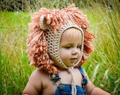 Crochet Pattern for Lion and Lioness Baby Bonnet Hat - 7 sizes, preemie/doll to adult - Welcome to sell finished items