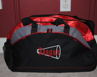 Duffel Embroidered Bag with a Personalized Design Custom Gym bag Karate School Cheer Dance Gymnastics Monogrammed Logo Small Duffel Bag