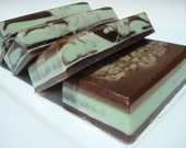 Mint Chocolate Soap -  Chocolate Soap - Peppermint Soap, Mint Soap - Mint Chocolate Chip Soap - Chocolate Brown and Mint Green Soap