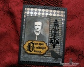 Gothic Halloween Greeting Card - Portrait of Poe - Once Upon A Midnight Dreary