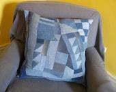 Patchwork Denim Pillow
