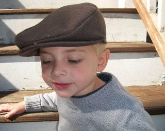 Chocolate Brown Wool Scally Cap Newsboy Golfers Cap Drivers Cap newsie