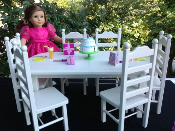 American Girl Doll: Furniture, table 6 chair set dolls