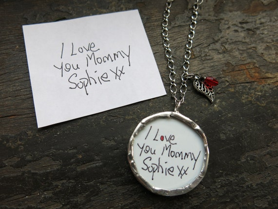 handwritten jewelry personalized necklace your by