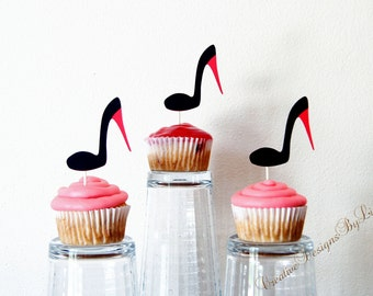 High Heel Cupcake Toppers