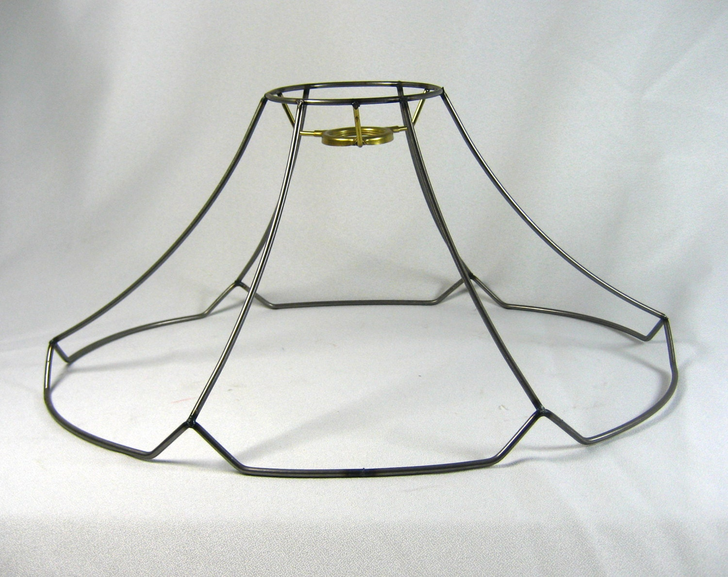 Lamp Shade Frame Bridge With Uno Or Pendant Fitting Scallop