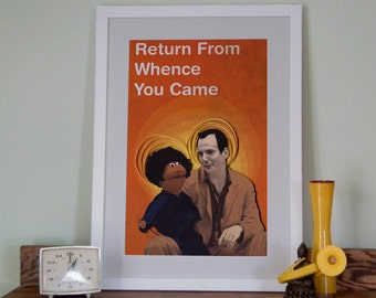 Arrested Development poster, Return from whence you came, Gob and Franklin Bluth, paper art print, 12x18 paper art print