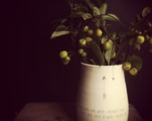 handmade white vase with wire handle inspirational housewarming gift