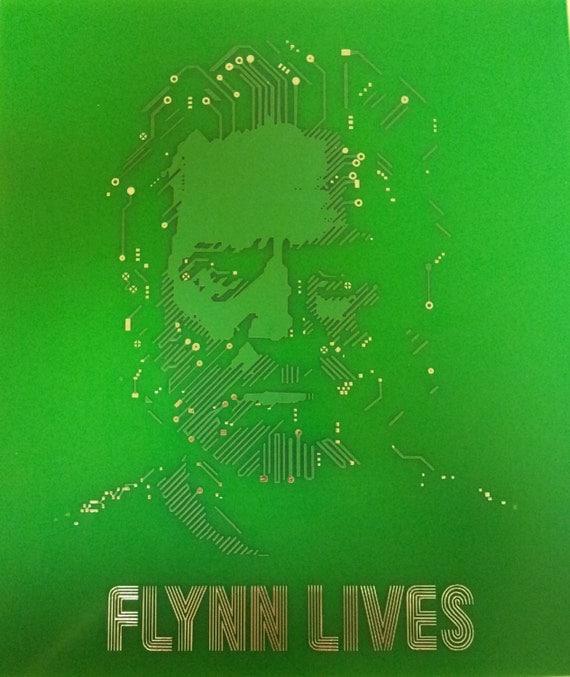 FLYNN LIVES Real Printed Circuit Board PCB