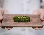 Ring bearer box - ring bearer pillow - wooden wedding ring holder