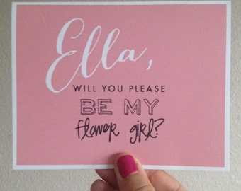 Will You Be My Flower Girl Folded Card