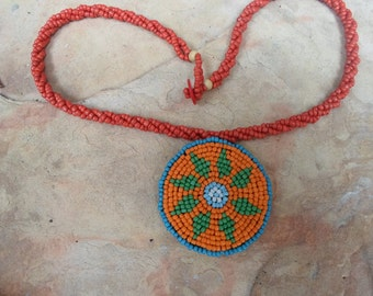 Native American Style Pendant Necklace